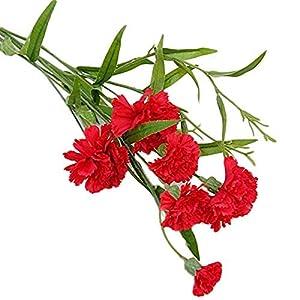 Ogquaton Flores Artificiales de Clavel para florero Flores Falsas Decoración de hogar de Flor Falsa Durable y práctico