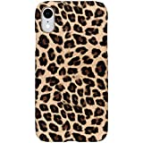 hCase kompatibel mit iPhone Xr Hülle - Leopard, Wildkatze, Tiermuster - Hard Case Handyhülle