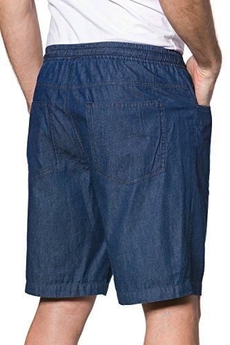 JP 1880 Homme Grandes tailles Bermuda jeans homme ceinture stretch - pantacourt homme coton 702620 Bleu
