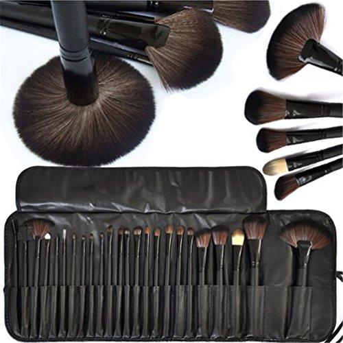Fashion Base® Professionnel Pinceau de Maquillage set| Pro cosmetic- Studio Pro Maquillage Make Up brosse cosmétiques Set Kit w/étui en cuir – Pour Ombre à paupières, blush, cache-cernes, Etc.