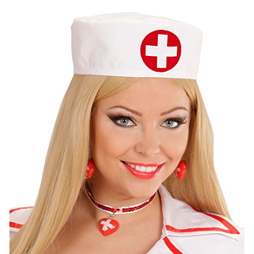Kostüm Sexy Ärzte - Krankenschwester Haube Schwesternhaube Schwester Hut Ärztin Häubchen Sexy OP Mütze Arzt Kopfbedeckung Karneval Kostüm Damen Zubehör
