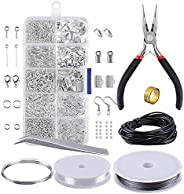 lifcasual Earring Making Supplies Set,Jewelry Making Kit Jewelry Findings Starter Kit Jewelry Beading Making a