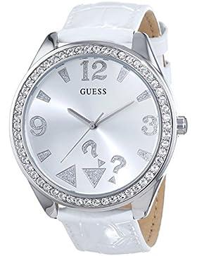 Guess–Uhr Damenuhr, Lederband weiß