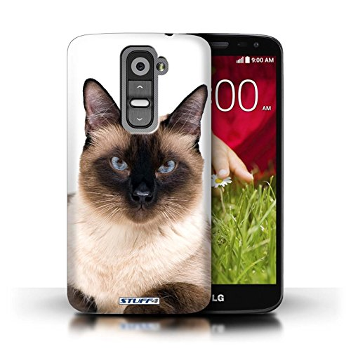 Kobalt® Imprimé Etui / Coque pour LG G2 Mini/D620 / Abyssinien conception / Série Espèces de chats Siamois
