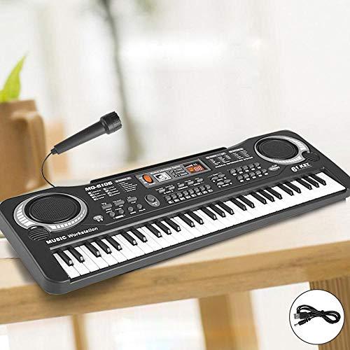 Dymas 61-tasto multifunzione dei capretti con microfono tastiera simulazione musicale pianoforte giocattolo