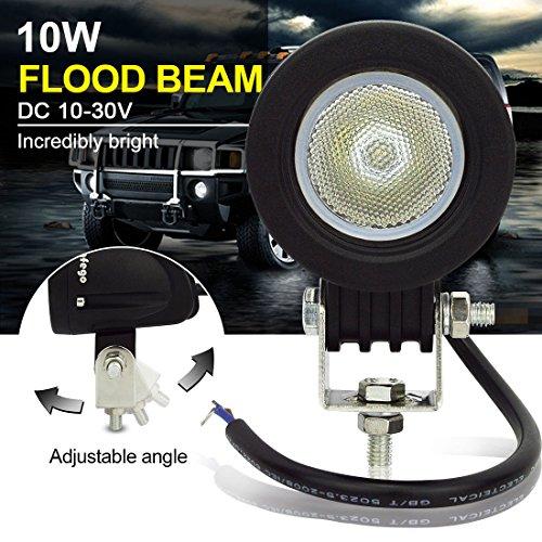 Safego 12 V 24 V 10 W CREE LED work Light Lamp luci di inondazione per camion off Road 4 x 4 ATV trattore 60 gradi roto