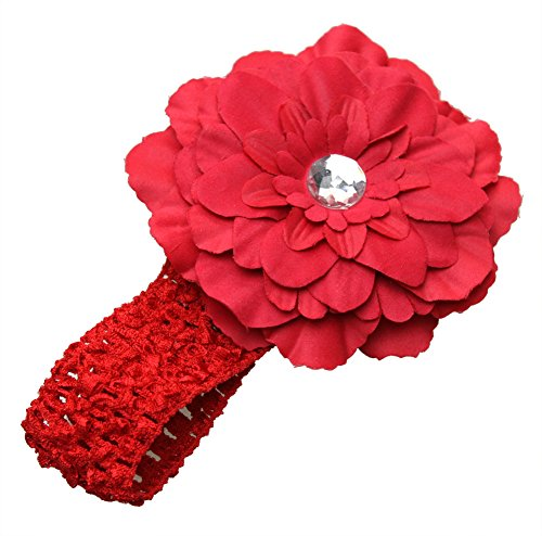 Demarkt Blume Haarband Pfingstrose Baby/ Mädchen/ Damen Geschenk Headwear (rot)