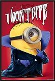 Minions I Won't Bite Vampir - Poster Druck - Grösse 61x91,5 cm + Wechselrahmen, Shinsuke® Maxi Kunststoff schwarz, Acryl-Scheibe