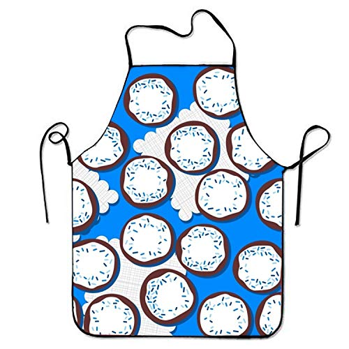 e Cream Apron for Baking Crafting Gardening Cooking Durable Easy Cleaning Creative Bib for Man and Woman Standar Size ()