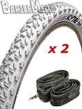N ° 2% 2F Neumático de bicicleta 26 x 2,10 (56-559) blanco n ° 2 cámaras I. bicicleta de ciclismo