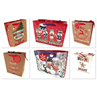 The Big Card Company bags 6 medium Christmas Dimensions: 24 x 19 x 10