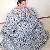 Decke, grob gestrickt, XGZ handgefertigt GIANT geschoben Wolle Knit Überwurf Sofa Decke oder...