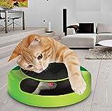 WXH Pet Cat Interactive Toys-Gatto Cattura del Mouse Peluche Sport Chase Giocattoli-Artiglio Cura Mobile Grabs-Indoor Fun Cat Giradischi
