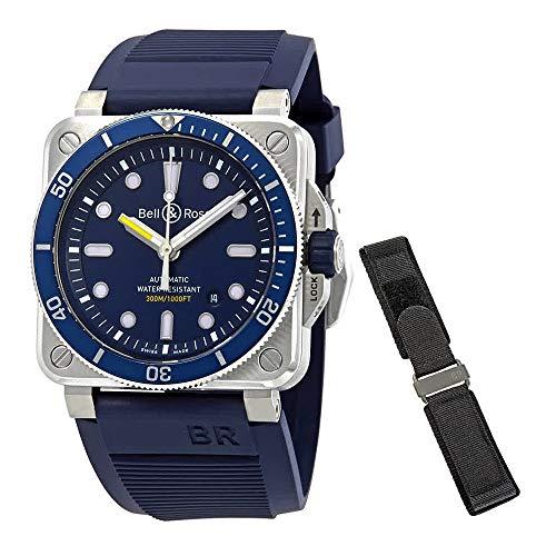Bell and Ross Diver orologio automatico da uomo con quadrante blu,...