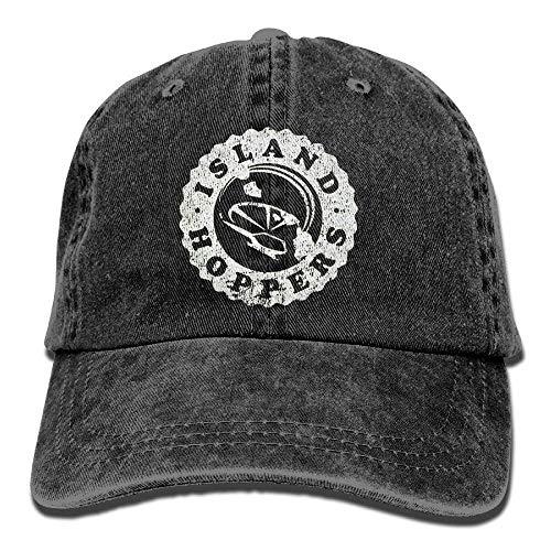 Osmykqe Island Hoppers - Magnum 80er Jahre Retro Tv Show Baseball Flag Cap Mesh Snapback Trucker Mützen Schwarz XC7807