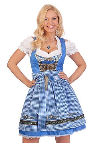 Kostüm Blau Amy - Trachten Minidirndl 2tlg. - Amy - blau, Größe 32