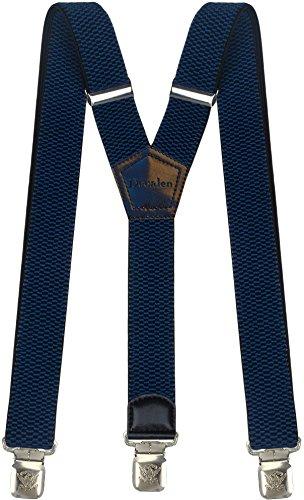 Hosenträger für Herren breit extra starken 4 cm mit 3er Clips Y-Form lange für Männer und Damen Hose (Blau) - Große Hosenträger Kinder Für