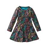 Oilily Mädchen Kleid True Jersey Dress, Gr. 104, Mehrfarbig (Brown 89)