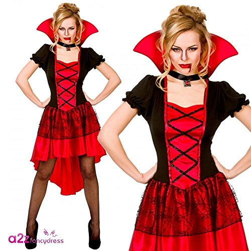 Damen Glamouröses Vamp Karneval / Halloween Kostüm, große Größe (UK 18-20 EU 46-48)