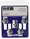 H&R 125007KEY4 Felgenschloss-Muttern 4-Er Set Flachbund, M12 x 1,5 mm
