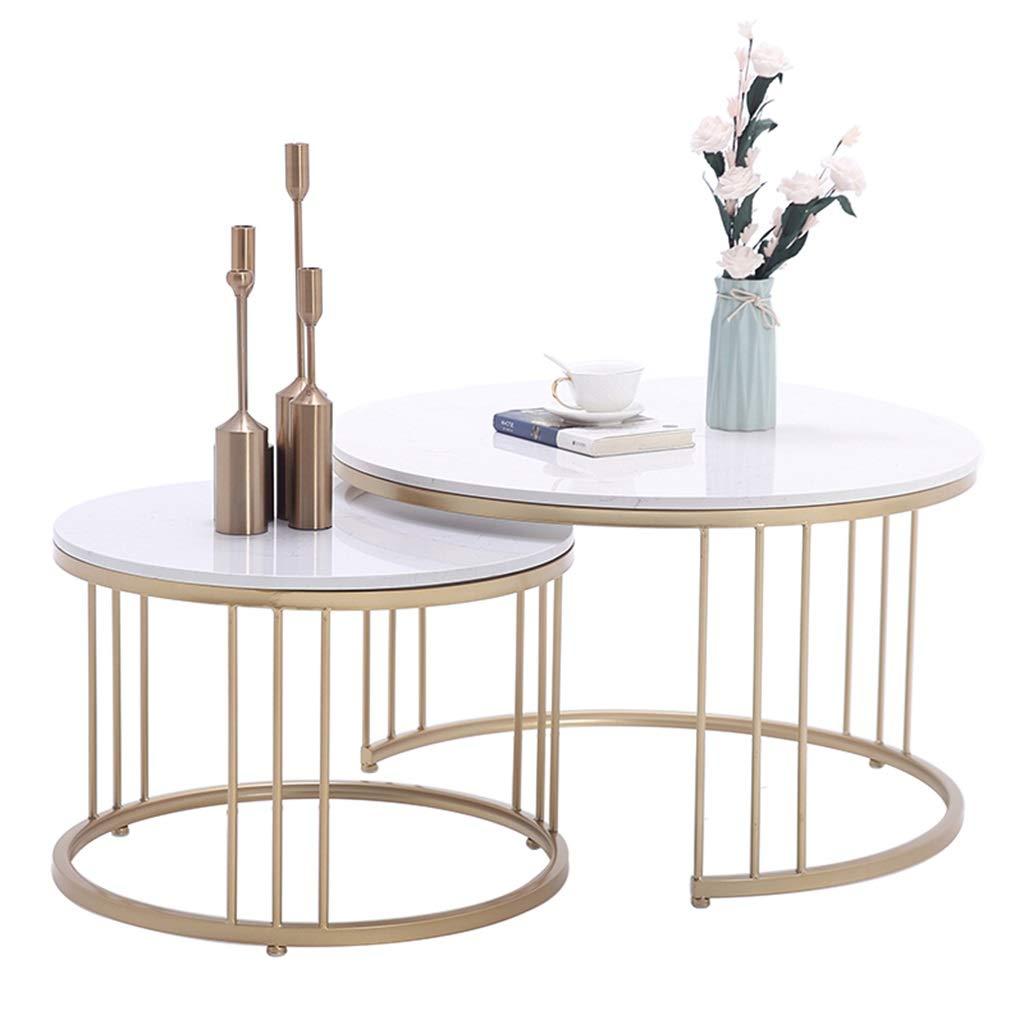 Ensemble de table basse de salon moderne support de table Table de salon moderne blanc