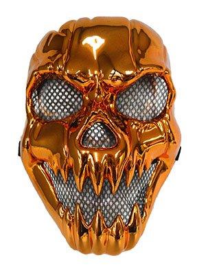 Ghost Rider Maske bronzeoptik Kunststoff - Erwachsene (Für Erwachsene Kunststoff-maske)