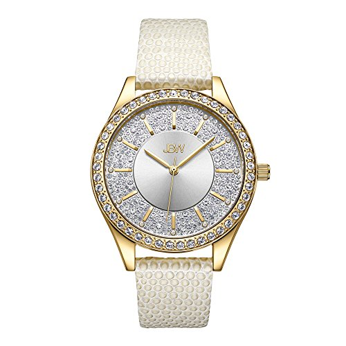JBW 10 YR Anniversary Women's Mondrian 0.12 ctw Diamond Leather Watch J6367-10B