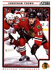 2012/13 Score NHL Hockey Card # 116 Jonathan Toews Chicago Blackhawks