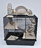 Nagerkäfig,Hamsterkäfig,Zwerghamsterkäfig, Rocky,Teddy Lux,Hamster,Maus,Nager,Käfig,Mäusekäfig incl. Röhrensystem in beige