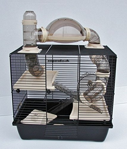 Nagerkäfig,Hamsterkäfig,Zwerghamsterkäfig, Rocky,Teddy Lux,Hamster,Maus,Nager,Käfig,Mäusekäfig incl. Röhrensystem in beige (Hamster Käfig)