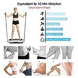 SVNA Vibrationsgeräte Fitness-Vibrationsplattform 120-Gang-Magnet-Massage Drahtlose Bluetooth-Stummschaltung für Massageübungen,White - 4