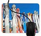 Tapis de Souris Gaming Support de Ski Super Vacances de Ski Mousepad Gaming pour Ordinateur, Ordinateur Personnel 1F2266