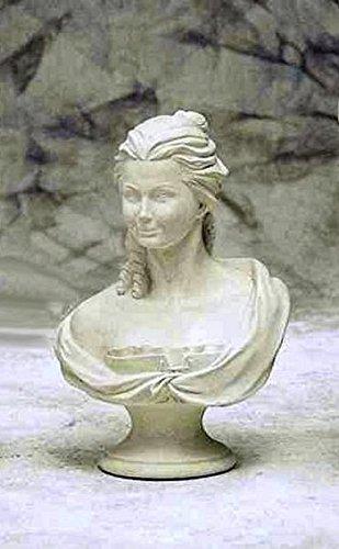 pompidu-living Marie-Antoinette-Büste, H 58, Bust, Steinfigur, Gartenfigur Farbe Sandstein (Marie Antoinettes Garten)