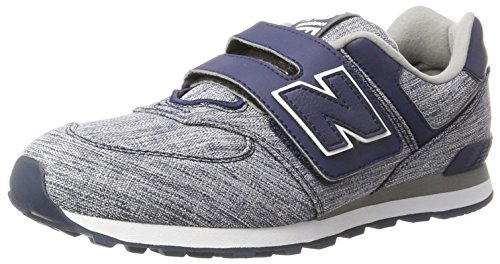 New Balance Unisex-Kinder Sneaker, Blau (Blue), 34.5 EU (2 UK) New Balance Sneakers Velcro