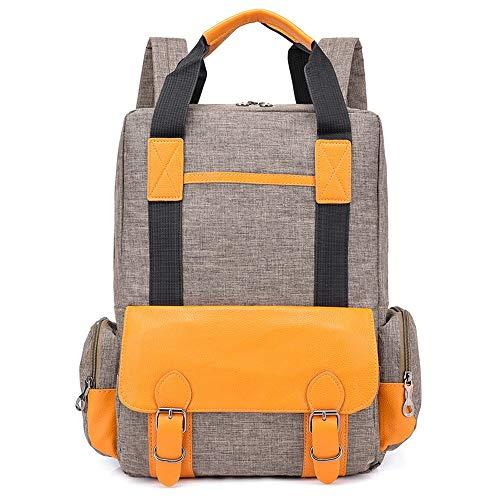 Multifunktionaler Rucksack for Studenten, Laptop-Reiserucksack mit USB-Ladeanschluss, wasserdichter Schulrucksack High School Rucksack Mädchen-Taschen for Studenten (Color : Nude)