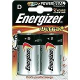 Batteries D (LR20) - Energizer Ultra+ x2