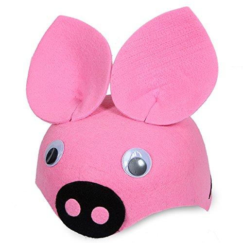 Leistung Kleidung Zubehör Cartoon Tier Hut (rosa Schwein) ()