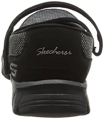 Skechers Ez Flex 3.0-Stopover, Mary Jane Femme Noir (Black)