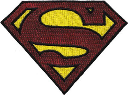 Application Superman Glitter Logo Patch (Jean Floral Manschette)