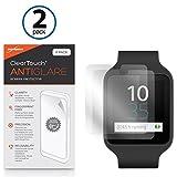Sony Smartwatch 3swr50Bildschirmschutzfolie, BoxWave® [ClearTouch AntiGlare (2er Pack)] Anti-Fingerprint Matt Folie Schutzfolie für Sony Smartwatch 3swr50
