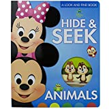 Disney Baby Mickey, Minnie, Princess and More! - Hide & Seek Animals, A Look and Find Book - PI Kids
