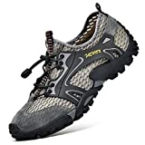 Sandali Sneakers Sportivi Estivi Uomo Trekking Scarpe da Spiaggia All'aperto Pescatore Piscina Acqua Mare Escursionismo Leggero (45 EU, Grigio)