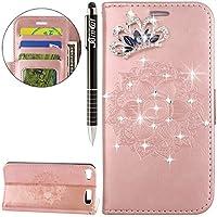 iPod Touch 6 Hülle,iPod Touch 5 Hülle,SainCat Retro Schön 3D Datura Mandala Blumen Muster Ledertasche Handyhülle... preisvergleich bei billige-tabletten.eu