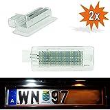 Do.LED P02LED NUMBERPLATE apto para Renault (todos los sólo con conector eckigem.) CAPTUR, Clio III IV, ESPACE, Fluence, Laguna II, Latitude, Master, Megane CC II III Gran Tour, modo grandm ODUS, Scenic II, III, Twingo II, VEL SATIS, Zoe–libre de TÜV Matrícula Lámpara para matrícula lámpara de matrícula con certificado E xenón