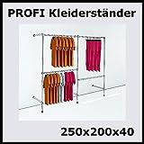 250x200x40 PROFI KLEIDERSTÄNDER BEKLEIDUNGSSTÄNDER GARDEROBENSYSTEM-P250R