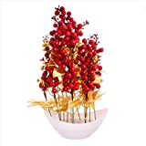 #7: JaipurCrafts Premium New Arrival Forever Collection Artificial Flowers with Pot