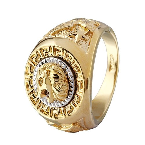 Herren Cool Lion Eagle Star Band Punk Finger Knuckle Ring Fashion Zubehör, Legierung, Gold, 10 (Ringe-star-stein Herren)