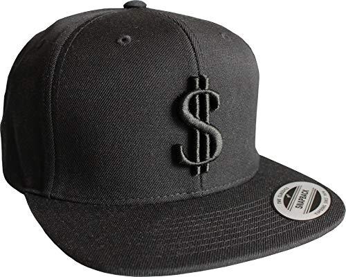 Cap: Dollar - Classic Snapback von Flexfit - Urban Streetwear - Männer Mann Frau-en - Baseball-cap - Hip-Hop Rap-per - Mütze - Kappe - $ - Money - Cent - Thug - USA - Vintage (One Size)