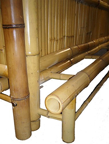 4tlg. Bar RIVAS + Bambus Theke Tresen Barhocker OUTDOOR - 6