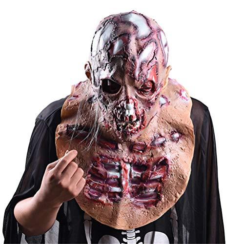 Jiahe Cosplay Christmas Grinch Maske Melting Melting Face Latex Kostümkollektiv Prop Scary Maske Spielzeug, geeignet für die meisten Erwachsene